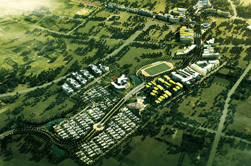 Brigade Orchards Property in devanahalli Air View