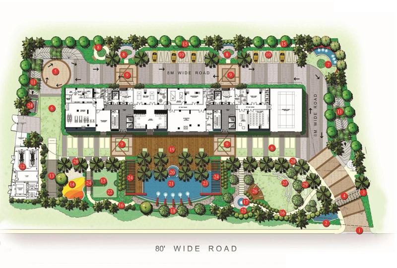APAS Master Plan - High End Apartments on bannerghatta road near Meenakshi Mall